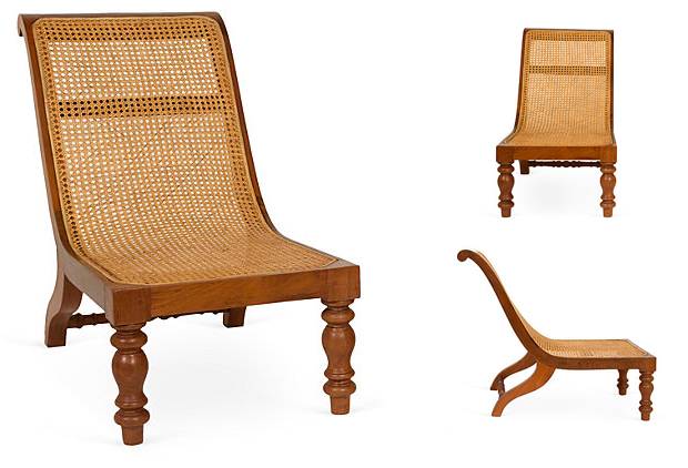 Teak and Cane Tropical Chair from South India
