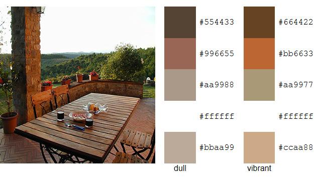 Tuscan Landscape Color Palette