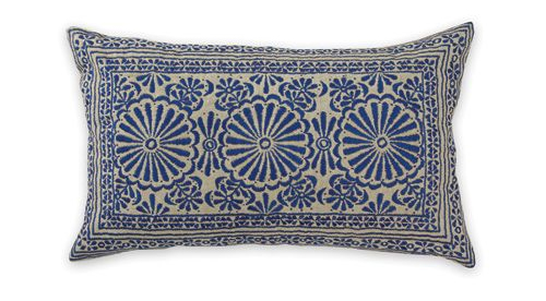 Blue Sari Cushion from Aura Home