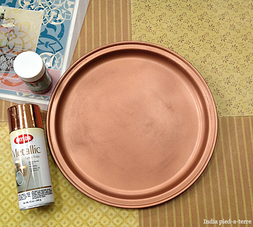 & Copper Spray Painted Tray | Nomadic Decorator