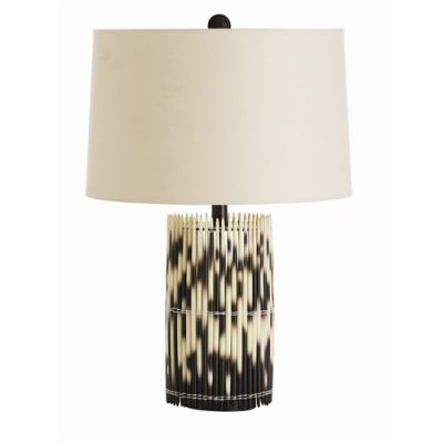 Faux Resin Porcupine Quill Lamp Base by Arteriors