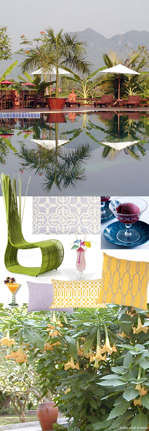 Moodboard For Designclaud Laos Spring Roll Colors Nomadic Decorator