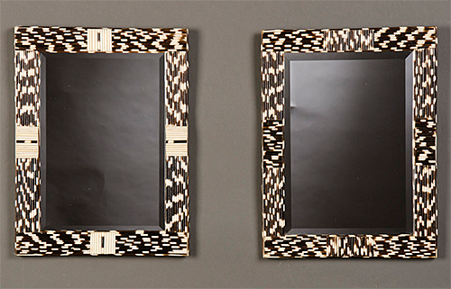 Porcupine Quill Covered Mirrors via Carl Moore Antiques