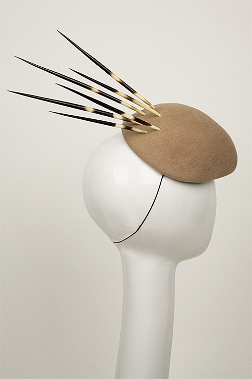 Porcupine Quill Fascinator Hat by Angela Morano