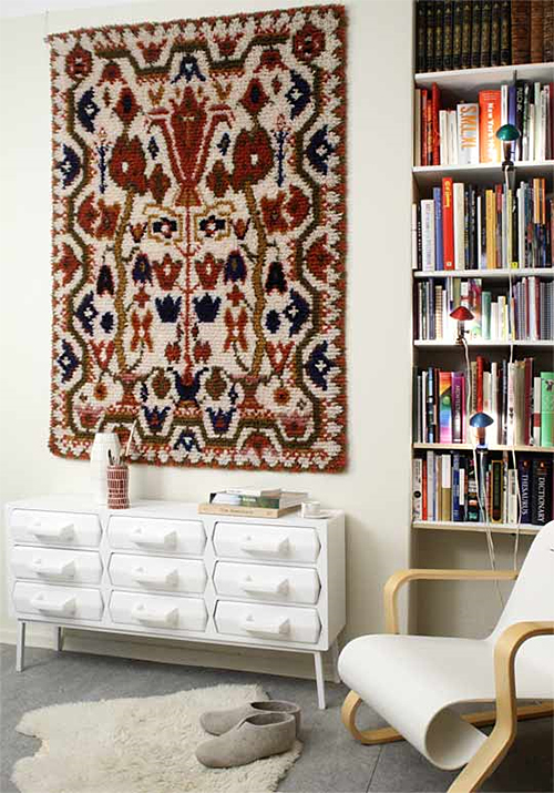 Rug on Wall via Yle