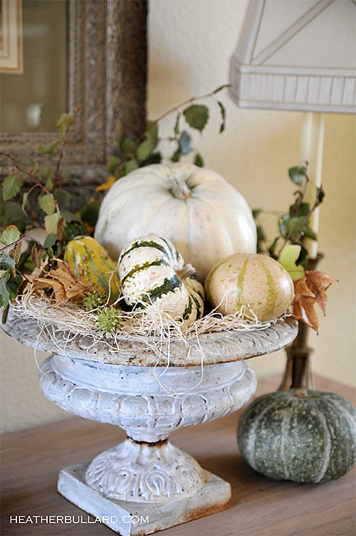 White Pumpkin in Urn by Heather Bullard