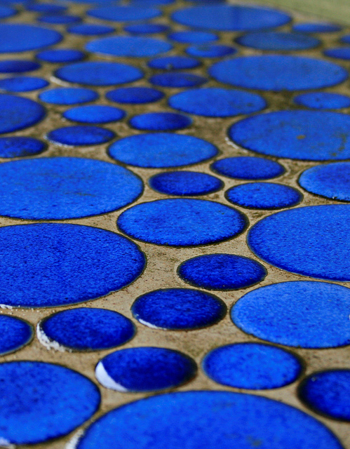 Blue Tiles Photographed by Wendee Schmitke