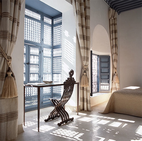 A Well-Traveled Room in Ryad Dyor in Marrakech