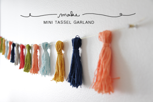 Tassel Garland DIY from La La Lovely