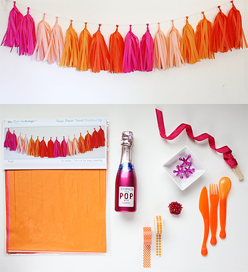 Tissue Tassel Garland Kit from Etsy Shop The Flair Exchange