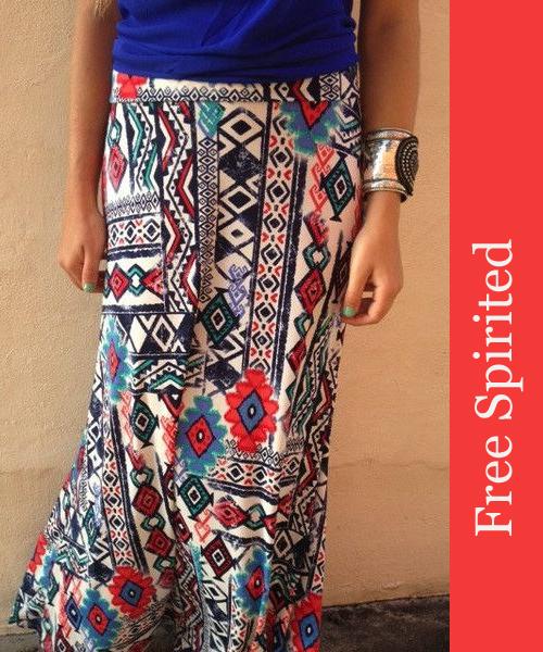 Wild Pattern Skirt from Boca Leche