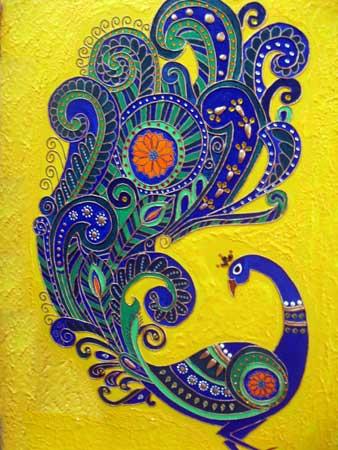 Wood Mural Painting by Ariya Nair