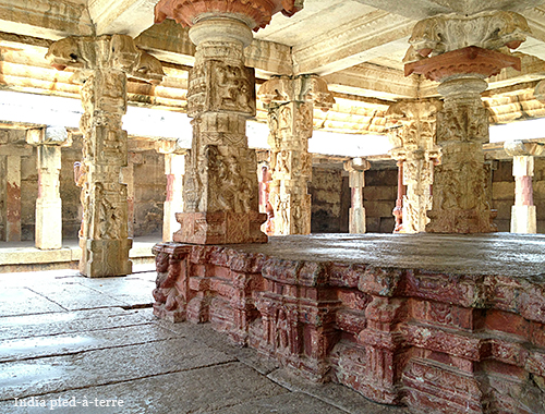 Columns in Nandi Hills Bhoga Nandeeshwara Temple
