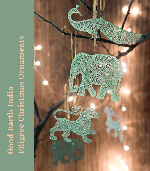 Good Earth India Filigree Christmas Ornaments