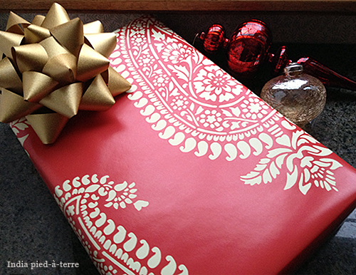 Red-Paisley-Block-Print-Gift-Wrap