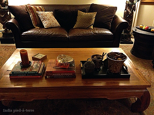 View of Living Room Coffee Table