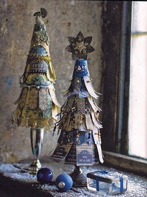 Boho Paper Fringe Trees via Holiday with Matthew Mead