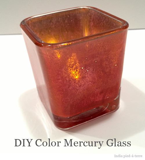 Colored Mercury Glass DIY