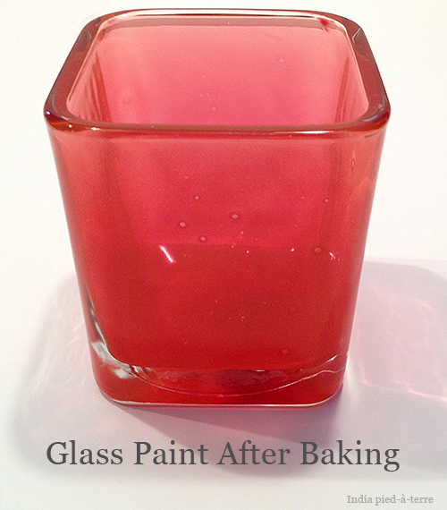 Martha Stewart Glass Paint After Baking to Cure It