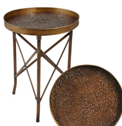 Gold Copper Side Table from Joss and Main