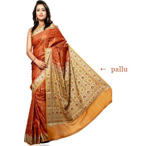 Pallu on a Sari