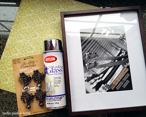 Supplies to Make Tray from Picture Frame