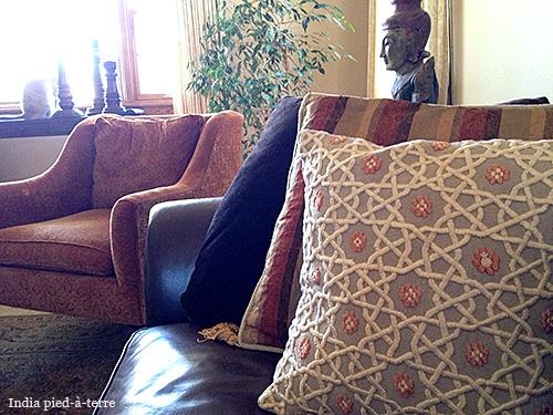 Khiva Embroidered Pillow from Uzbekistan