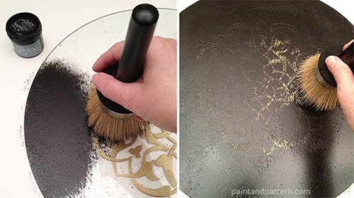 How to Paint a Stencil on Glass