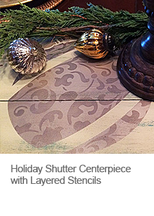DIY Holiday Stenciled Centerpiece