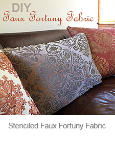 Faux Fortuny Fabric with Stencils