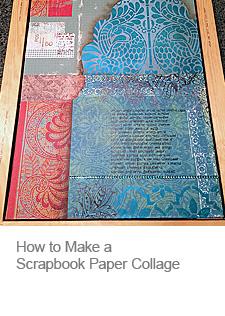 Scrapbook Paper Collage