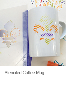 Stenciled Coffee Mug