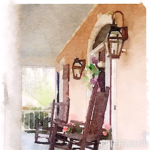 Gorgeous Waterlogued Porch via Stacy Lewis on Instagram