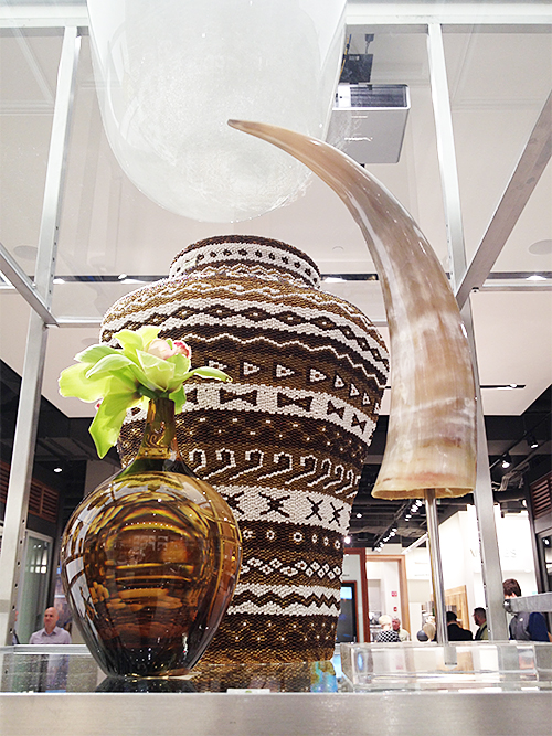 Beaded Basket and Horn at PIRCH