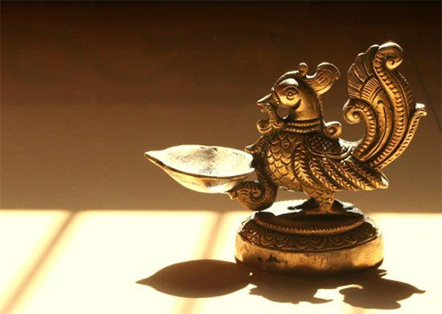 Annapakshi Brass Lamp