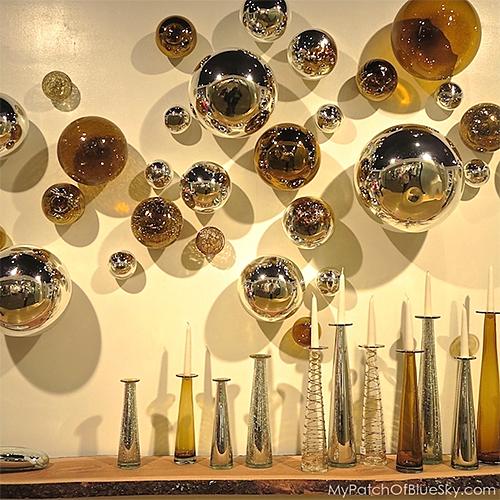 High Point Furniture Market Mirrored Orbs via Debbie Dion Hayes