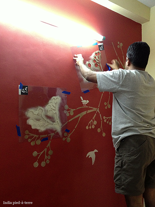 Painting Wall Stencils in India