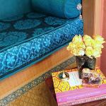 India Travel Memories in Stenciled Silk