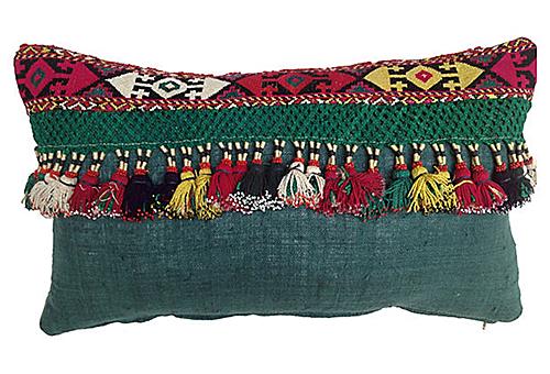 Tribal Tassel Pillow from One Kings Lane