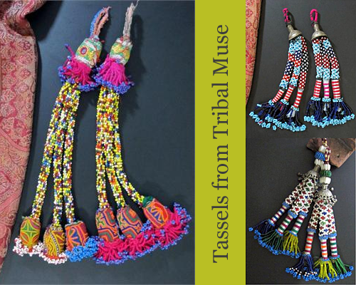 Tribal Tassels from Tribal Muse Shop