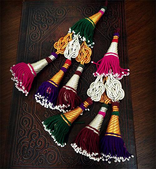 Uzbek Tribal Tassels from Dancing Tribe Etsy Shop