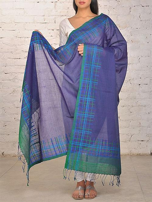 Jaypore Blue Hand Woven Dupatta