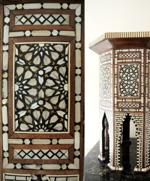 Antique Moroccan Inlaid Table via LiveAuctioneers.com