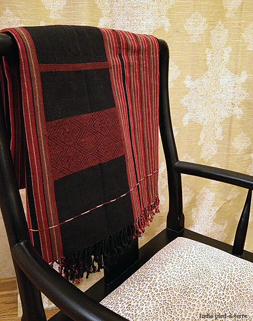 Naga Throw on Chinese Chair