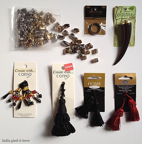 Supplies to Make DIY Tassel Bundle