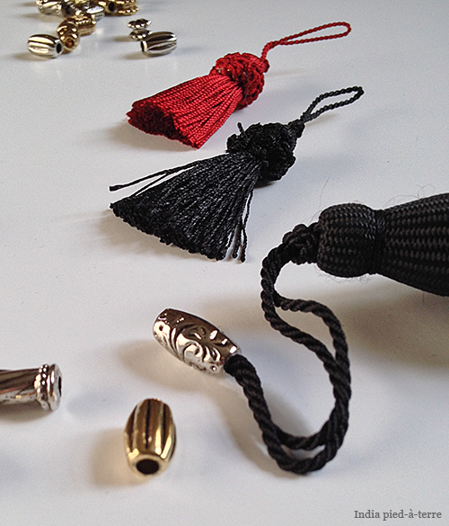 Thread Beads on Tassel Loops