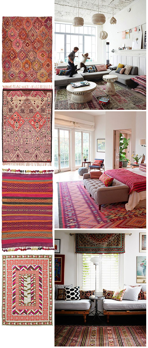 Rugs with Touches of Magenta