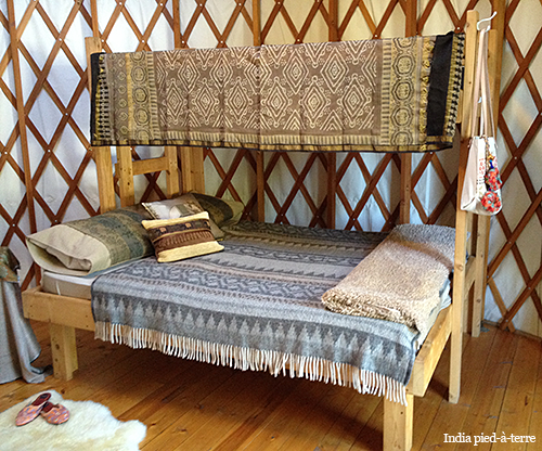 Textiles in a Glamping Yurt