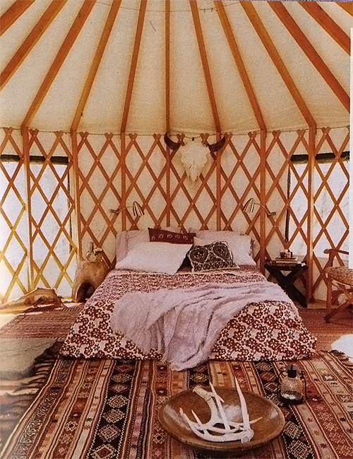 Yurt via Domino Magazine