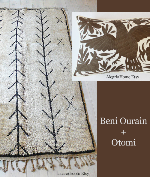 Moroccan Beni Ourain and Otomi